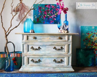 painted vintage furnitureThe Turquoise Iris  Furniture  Art