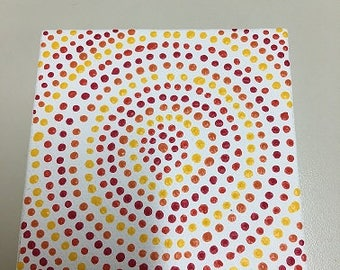 Handpainted on Small Canvas - Circles - Dot Painting Dot Dot Dash by TangoBrat