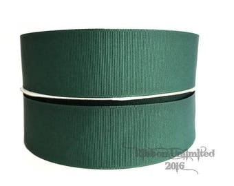 "10 Yards WHOLESALE 1.5"" Solid Hunter Green grosgrain ribbon LOW SHIPPING Cost"