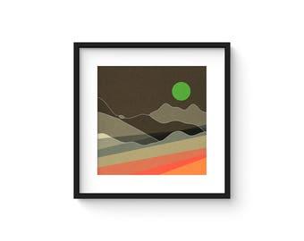 LANDSCAPE & BEYOND no.105 - Abstract Modern Minimalist Landscape Mid Century Style Art Print