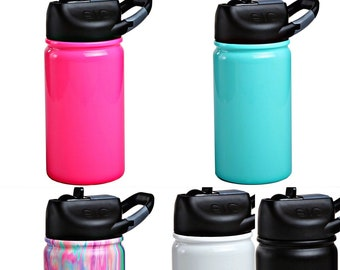 PREORDER~ 12 oz SIC™ Kids Tumbler Bottle- Laser Engraved Powder Coated Stainless Steel- w/ straw and closing lid- like Yeti, RTIC