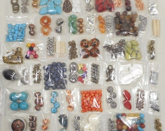 Large Lot of Mixed Assorted Beads Jewelry Making Supplies Crafting 25 bags