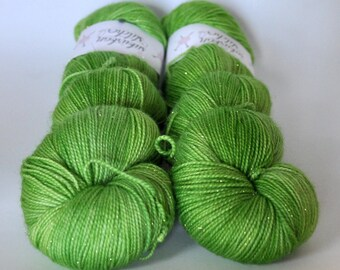 Glitter Sock - Granny Smith