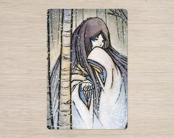 Yuki-onna / Yokai Yurei Winter Spirit / Japanese / 4x6 Glossy Postcard Rounded Corners