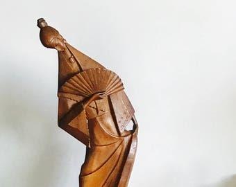 Mid Century Japanese Woman Sculpture