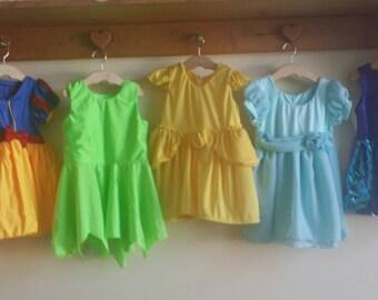 Disney princess baby toddler dresses simplified soft snow white Tinkerbell Belle Ariel Cinderella