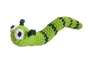Kitty Catnip Worm Cat Toy - Choose Your Color - Catnip Toy