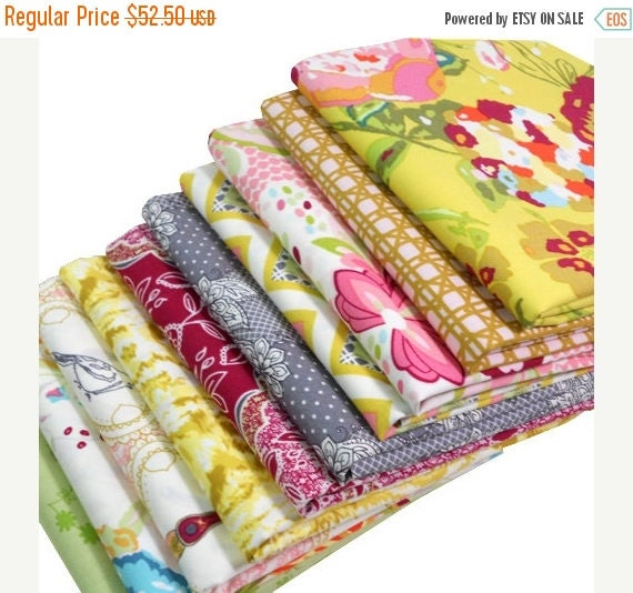 SALE 10% Off - Half Yard Bundle - Lilly Belle Warm Sunset - Bari J for Art Gallery Fabrics - 10 pcs