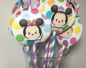 Tsum Tsum PAPER STRAWS for Birthday Party