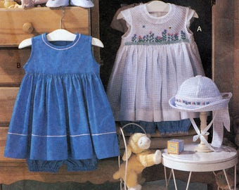 Vogue 7716 Sewing Pattern by Teresa Layman Designs for Infants' Dress, Hat, Bloomers and Shoes - Uncut