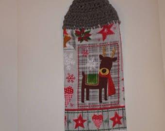 crochet towel, crocheted towels, hanging towels, kitchen towel, christmas towel, teacher gift