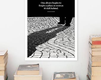 CHARLES DICKENS Literary Quotes Poster, Quote, Black and White Art Illustration, Large Wall Art Prints, Typography Print, Literary Gift