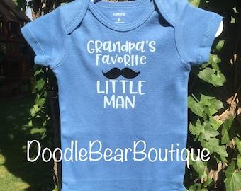 Baby Onesie- Grandpa's favorite little man