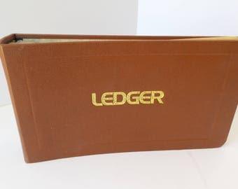 Vintage LEDGER, RETRO Office Ledger, Vintage JOURNAL, Art Journal, Midcentury Office Ledger, Vintage Scrapbook