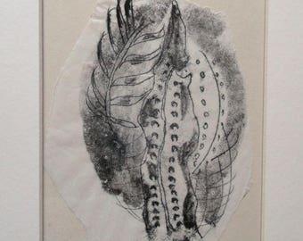 """Ferns - """"Fronds"""" - Original Monoprint - OOAK"""