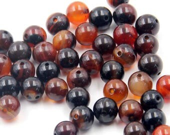 8mm 140Pcs Dream Agate Gemstone Beads Loose Finding For Handwork-- ja2035