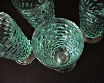 Light Aqua Goblets, Aqua Whitehall Glass, Windowpane Goblets, Aqua Goblets, Aqua Tea Glasses, Sea Glass Aqua, Sea Color Glasses, Aqua Glass
