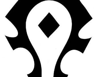 World of Warcraft Horde Logo Vinyl Decal Sticker