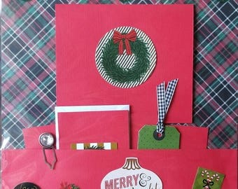 Merry & Bright Pre-Made 12 x 12 Scrapbook Page
