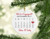 Engaged Ornament, engagement ornament, first christmas, personalized, custom ornament, engagement gift, gift for couple, couple ornament