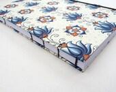 Journal, notebook, A4, flowers, vintage look, florentine, book, Rossi paper, Coptic, elastic, florentine