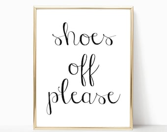 SALE -50% Shoes Off Please Digital Print Instant Art INSTANT DOWNLOAD Printable Wall Decor
