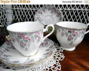 ON SALE 2 Royal Albert Teacups Tea Cups and Saucer - One is Damaged 11041