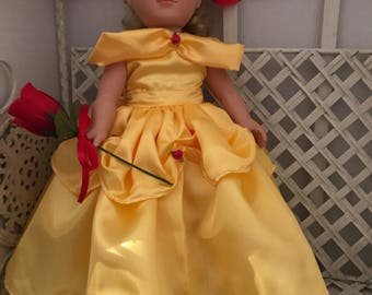 "American Girl Doll or 18 Inch Doll ""Belle"" Dress"