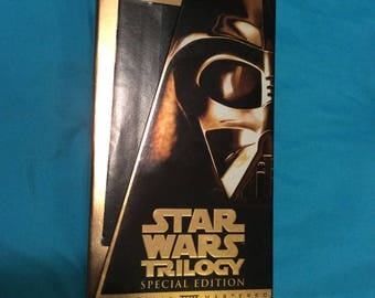1997 Star Wars Trilogy Special Edition Boxed Set VHS Video Tapes The Empire Strikes Back Return of the Jedi Pre-owned