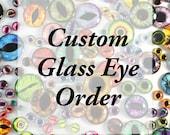 Custom 2 teal colored 30mm horse eyes