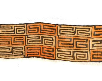 Kuba Raffia Textile Appliquéd Raffia Congo African Art 12 Feet 104342