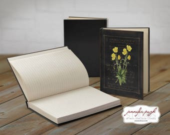 Flowers A 5x7 Hardback Bound Journal -Inspirational, Word Art