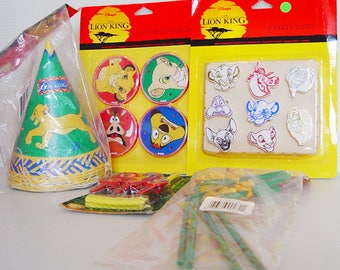Disney Lion King Birthday Party Set- Hats Rings Candles Straws