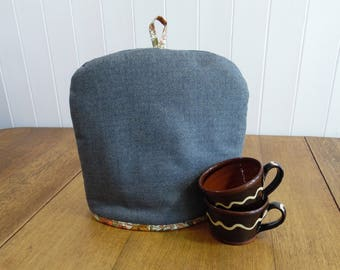Tweed  Tea Cosy Liberty Print Cotton Lining