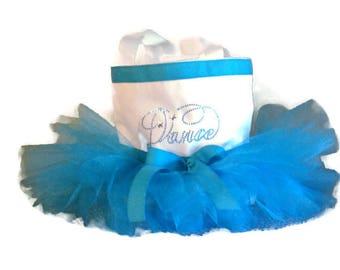 Frozen Tutu Dance Bag-White-Mini Tutu Bag-Dance-Ballet-Princess-Recital