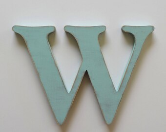 Wood Letter W - 12 inch letter W - Wooden Nursery Letters