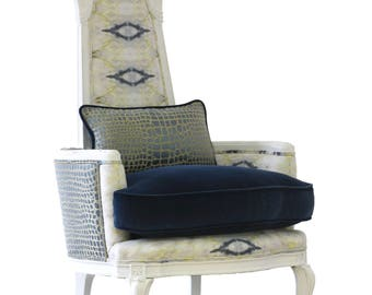 "Upholstered ""Sebago"" Armchair"