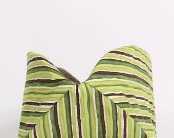 Summer Sale Cat Bed in Green Striped  - the Cat Canoe modern pet bed