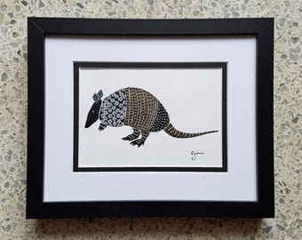 Armadillo - Original Ink Painting