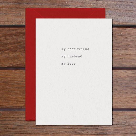 Best Friend Husband Love (Letterpress)