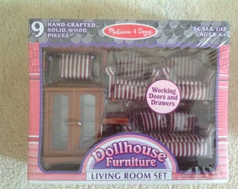 Dollhouse living room furniture Melissa and Doug new