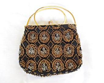 Vintage Beaded Evening Purse by Laura made in Hong Kong 1960's