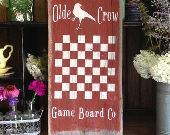 READY TO SHIP Old Barnwood Olde Crow Game Board Co