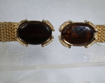 Vintage Swank Gold Tone Wrap-A-Round Cuff Links.