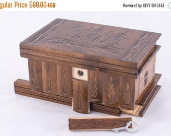 East European Puzzle-Jewelry Wood Box Case Handcrafted Brown EXPRESS Shipping