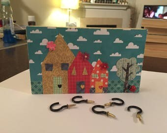 Wall Plaque, Key Rack, Jewelry Holder - Home Sweet Home 3