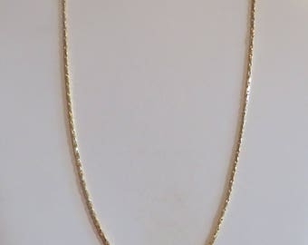 35 Cts Unisex Yellow Gold Hip Hop Chain Gold Filled Yellow Gold Chain Men's Gold Chain Women's Rope Necklace Gift
