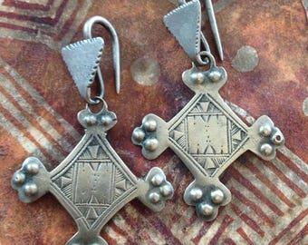 Old SILVER Tuareg Earrings, Niger