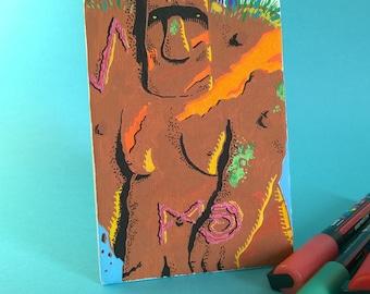Golem, Acrylic on board canvas, 10 x 15 cm