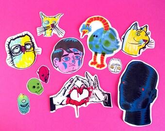 random pack of 11 stickers